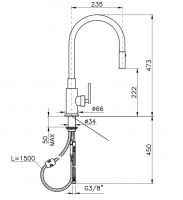 Смеситель для кухонной мойки Nicolazzi 3430 схема 1