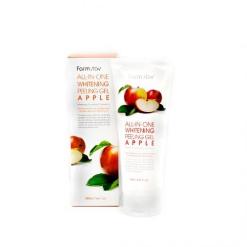 284767 FarmStay Отшелушивающий гель с экстрактом яблока, выравнивающий тон кожи All-In-One Whitening Peeling Gel Apple