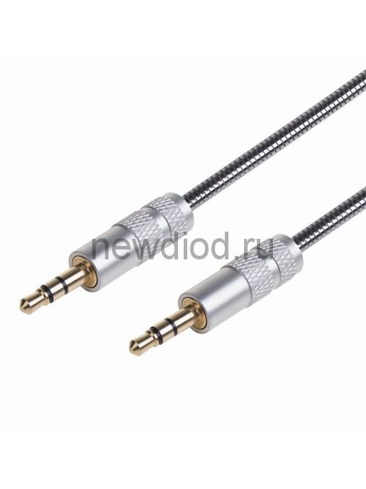 AUX-кабель в гибкой металлической оплетке 3.5 мм 1 м REXANT
