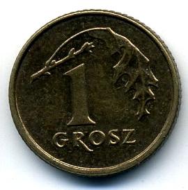 Польша 1 грош 1990