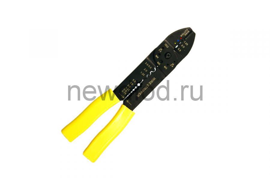 Кримпер REXANT HT-204 для обжима наконечников и зачистки проводов