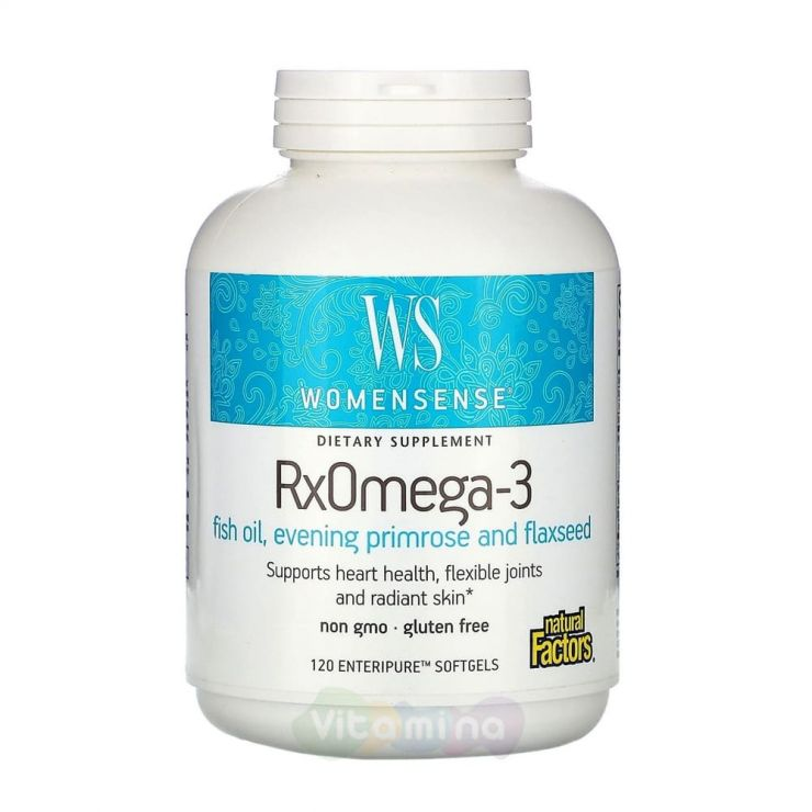 WomenSense RxOmega-3 Омега-3 для женщин, 120 капсул