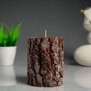 Силиконовая форма для свечи-цилиндр, дерево. 9×11,8 см