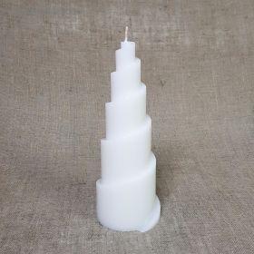 """Силиконовая форма для свечи-пирамида """"Рожок"""" 7,8х7,5х20,8"""