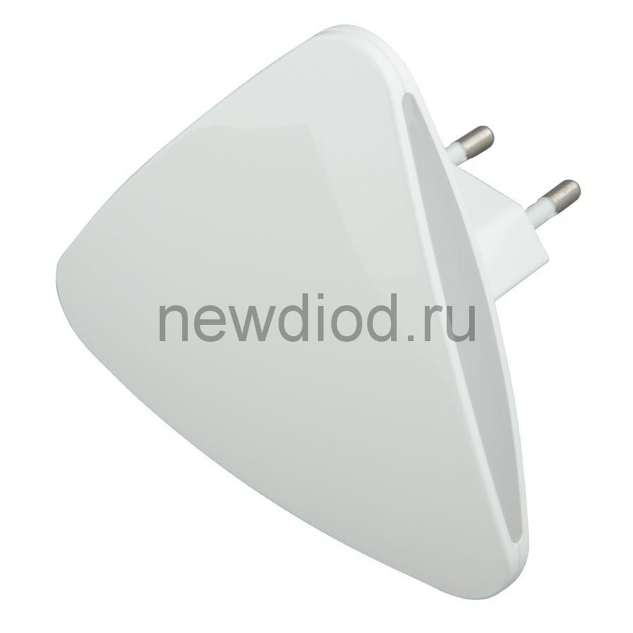 Светильник-ночник Треугольник/White/Sensor DTL-320 с фотосенсором (день-ночь) белый ТМ Uniel