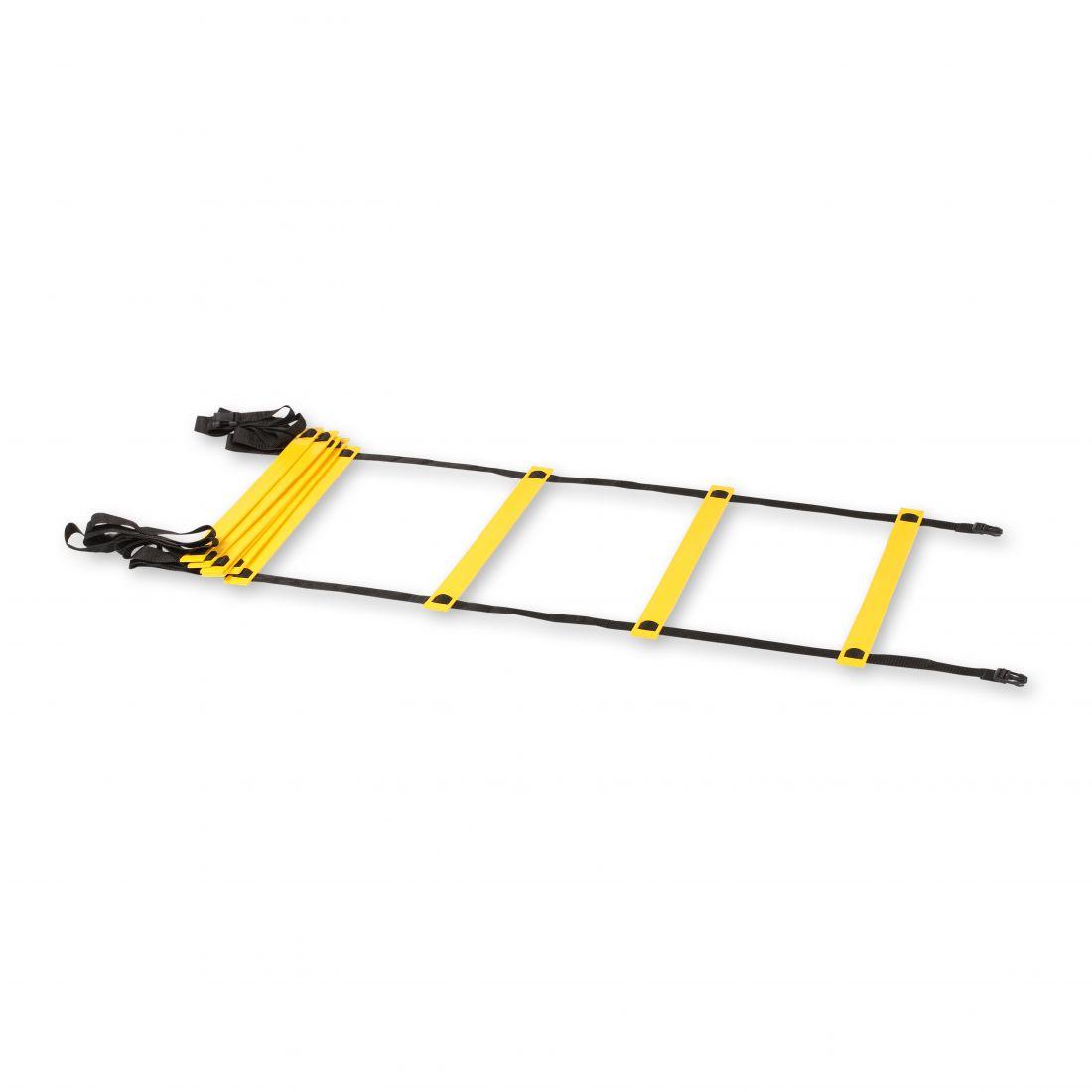 Лестница координационная Кроссфит 12 ступеней 4,5*0,42м Желтая