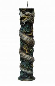 Силиконовая форма для свечи Столбик с драконом 19 см