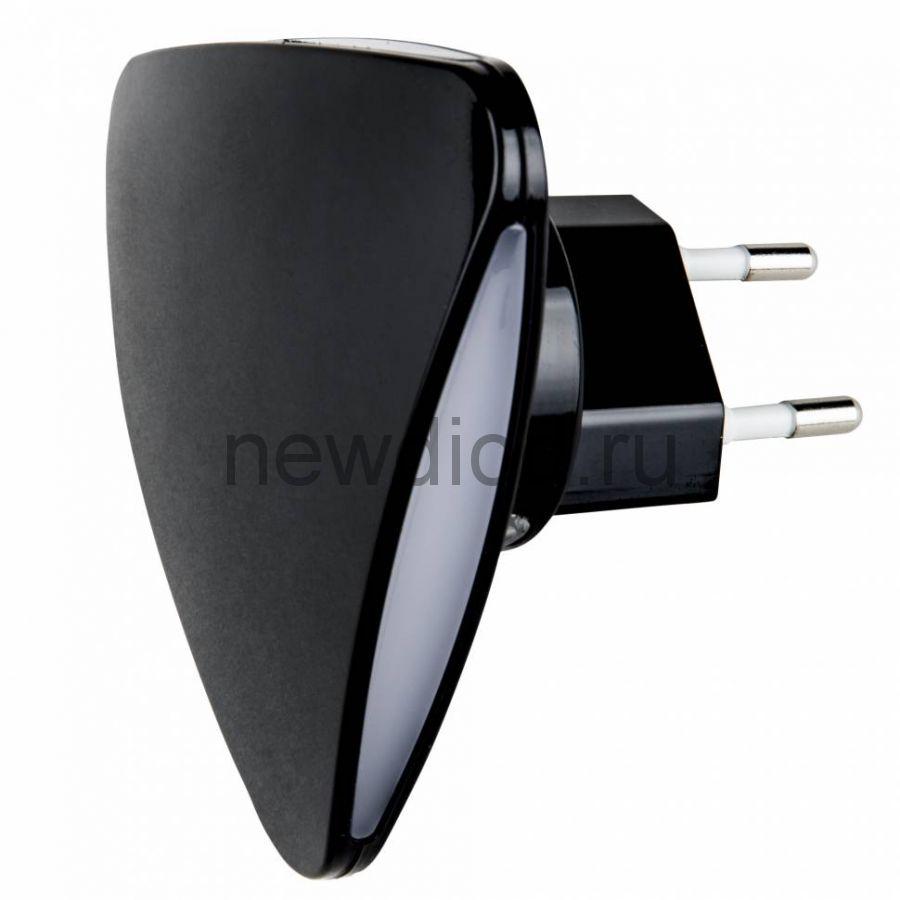Светильник-ночник Треугольник/Black/Sensor DTL-320 с фотосенсором (день-ночь) черный ТМ Uniel