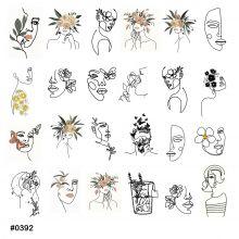Слайдер-дизайн для ногтей № 0392