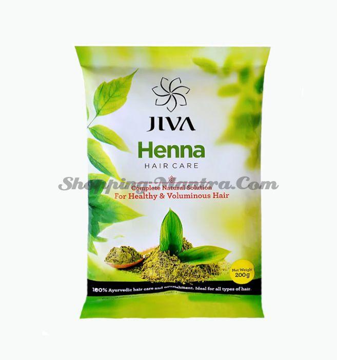 Маска для волос с натуральной хной Джива Аюрведа   Jiva Ayurveda Henna Hair Care