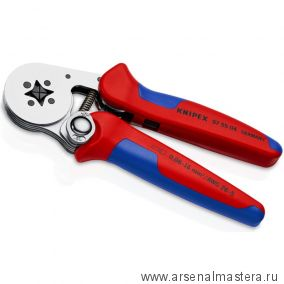 Пресс-клещи для контактных гильз, самонастраивающиеся с боковой установкой (ОБЖИМНИК ручной) KNIPEX 97 55 04
