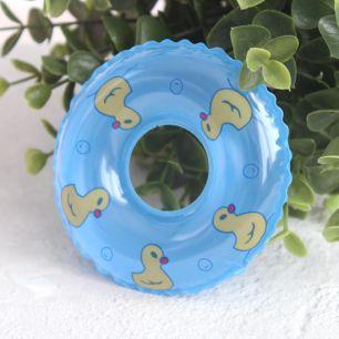 Кукольный аксессуар - Голубой надувной круг, 9 см.