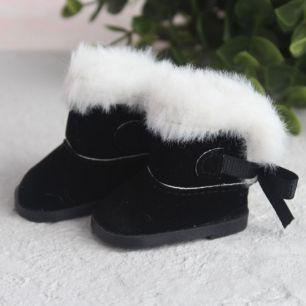 Обувь для кукол сапожки угги с мехом 5,5 см. - черные