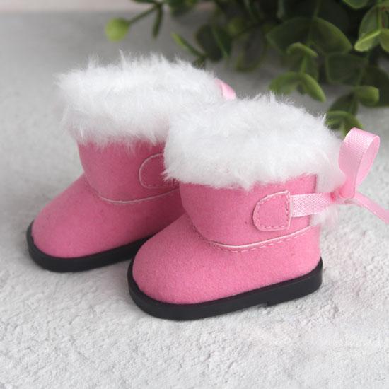 Обувь для кукол сапожки угги с мехом 5,5 см. - розовые