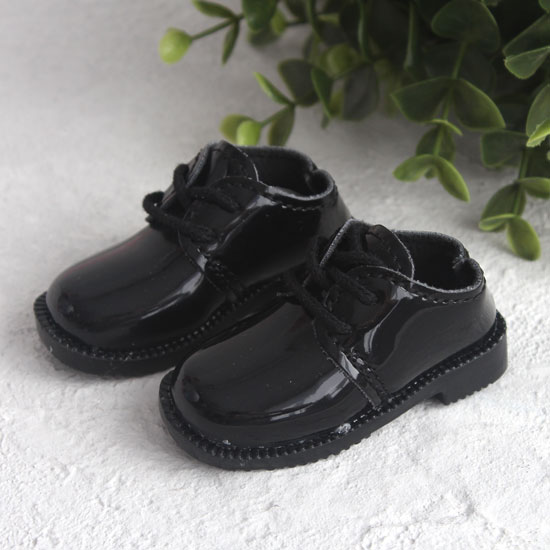 Обувь для кукол - Лаковые черные ботинки, 8 см.
