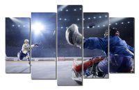 Модульная картина Хоккей - выход один на один
