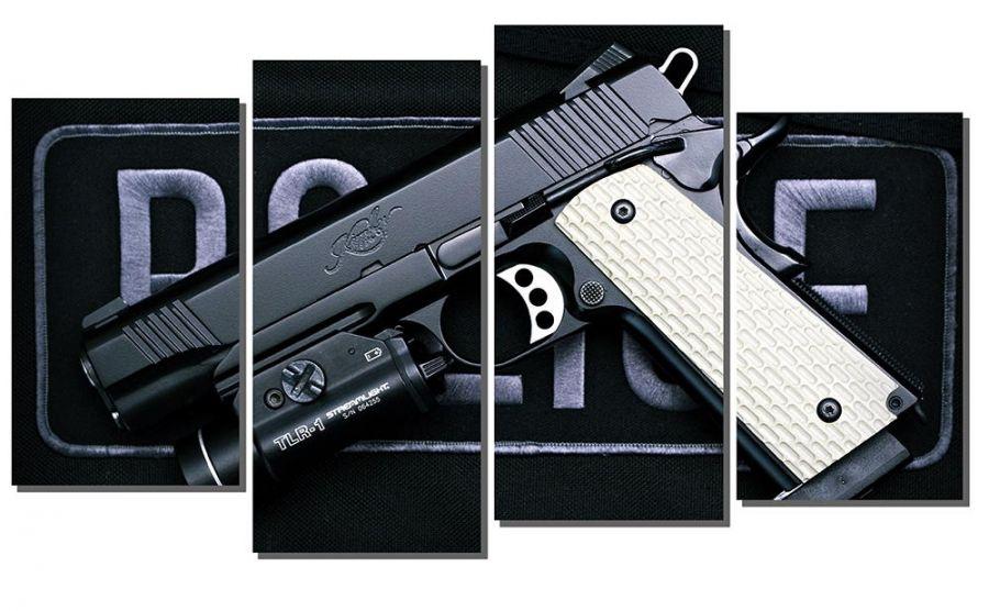 Модульная картина Пистолет полиции