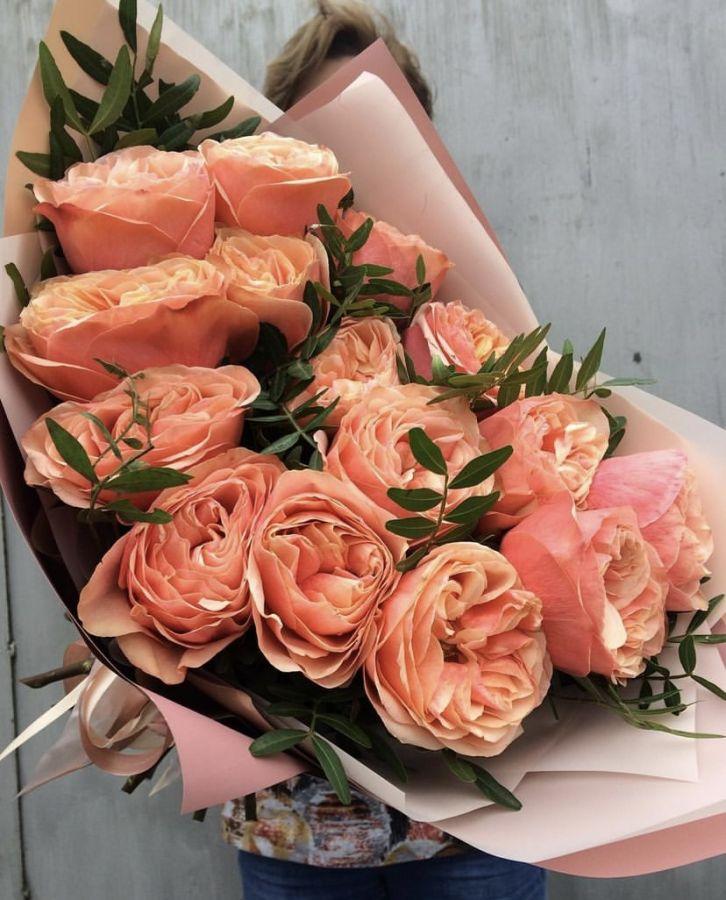 Пионовидные Розы с фисташкой