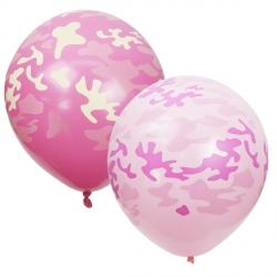 Камуфляж, хаки, милитари розовый латексные шары с гелием