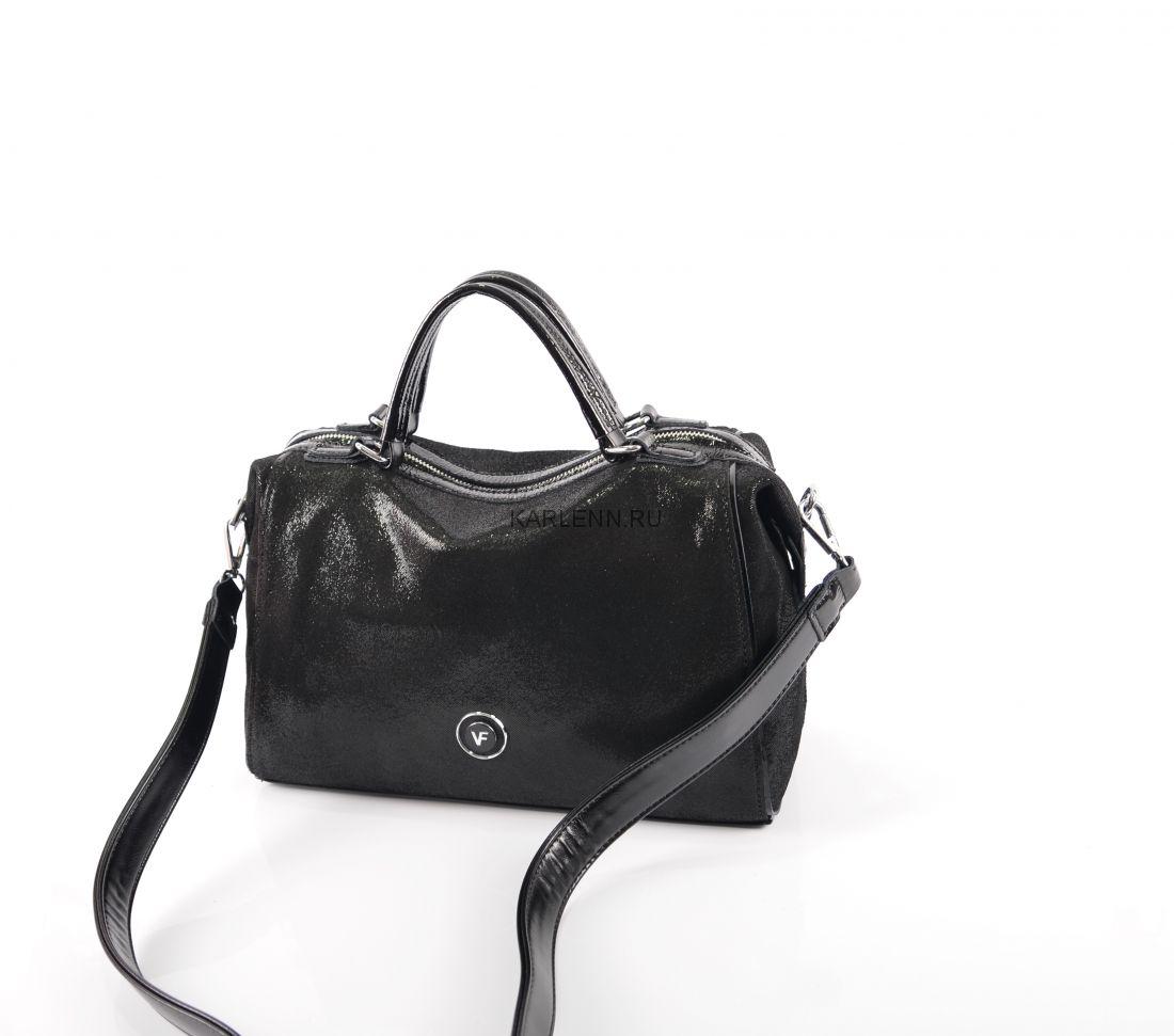 Мягкая сумка-тоут Velina Fabbiano (чёрная)