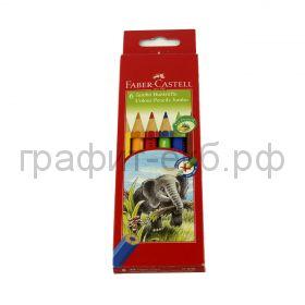 Карандаши цв.6цв.Faber-Castell Jumbo FC111206