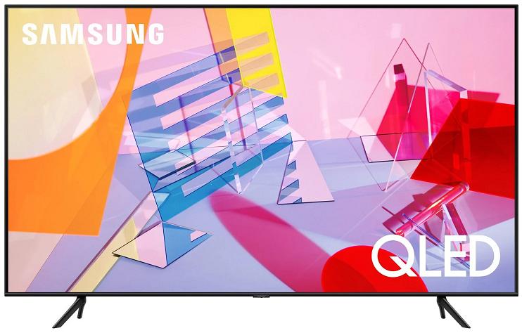 """Телевизор QLED Samsung QE43Q67TAU 43"""" (2020), черный"""