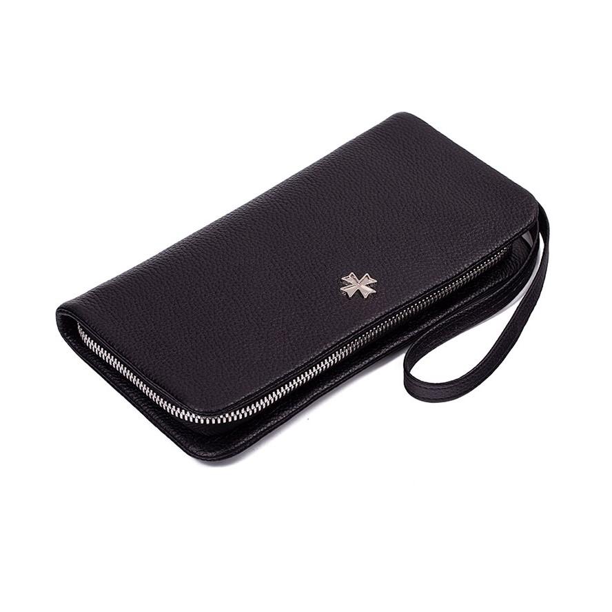 Кожаный мужской клатч Narvin 9426-N.Polo Black