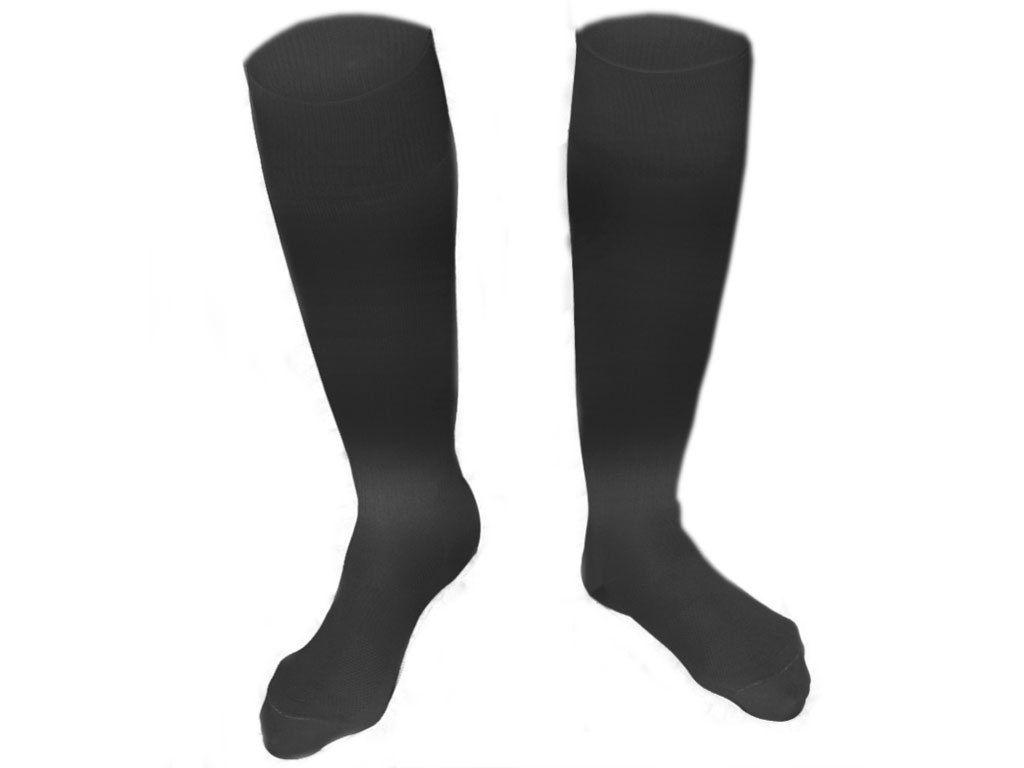 Гетры футбольные чёрные. размер 35-37., артикул 00470