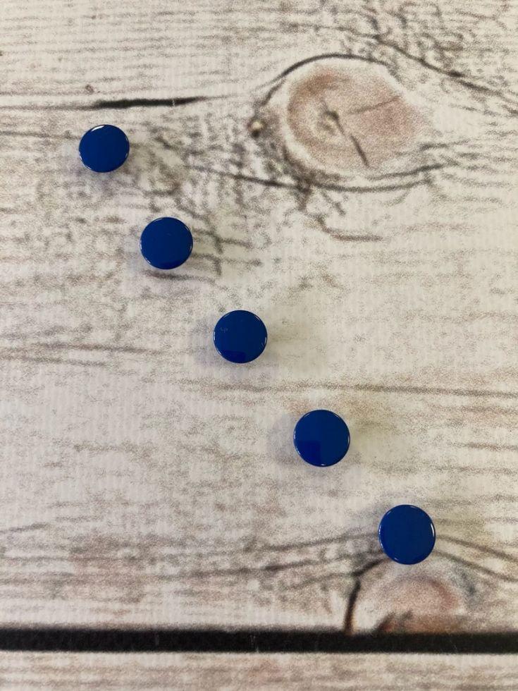 кнопка закрытая 9,5мм синяя