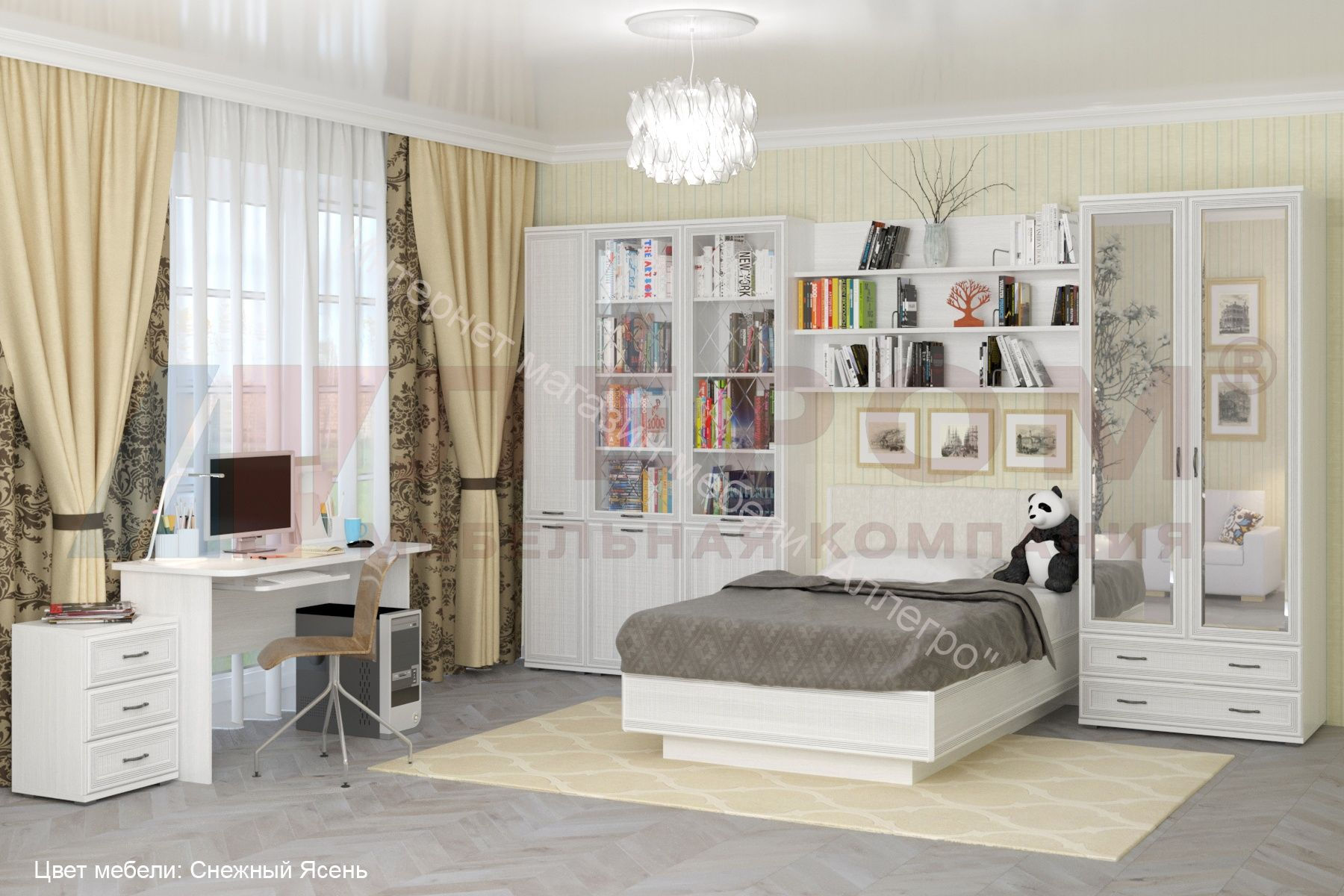 Шкаф ШК-1007 для одежды и белья Карина