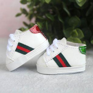 Обувь для кукол 5 см - Кроссовки с цветными задниками