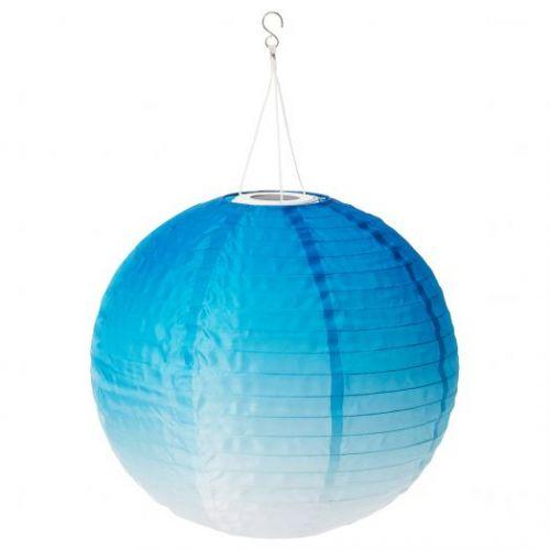 SOLVINDEN СОЛВИДЕН, Подвесная светодиодная лампа, для сада/шаровидный синеватый оттенок, 45 см - 804.873.61