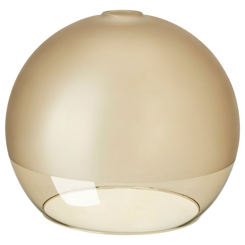 JAKOBSBYN ЯКОБСБЮН, Абажур для подвесн светильника, матовое стекло/светло-коричневый, 30 см - 904.948.94