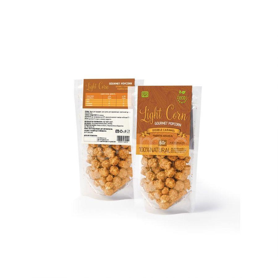 Попкорн  Light Corn gourmet Двойная карамель, 60 грамм