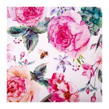 Бумага упаковочная глянцевая «Летние цветы», 70 × 100 см, упак 10 листов