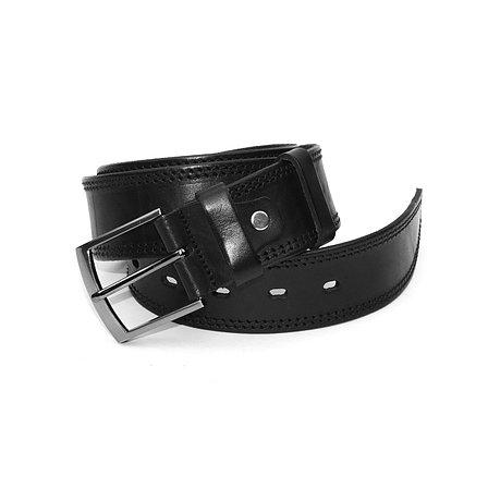 Ремень мужской кожаный черный 35