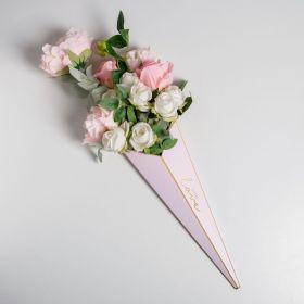 Конус для цветов With love 31,8 х 44 см