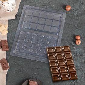 "Форма для шоколада 26,5×21 см ""Плитка шоколада"" cks-12"