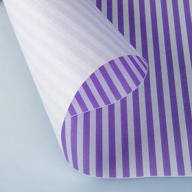 """Бумага упаковочная крафт """"Полоски фиолетовые"""", 0,5 х 10 м, 70 г/м² /м2"""