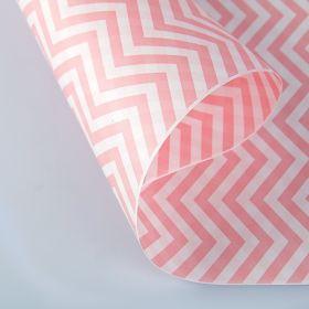 """Бумага упаковочная крафт """"ЗигЗаг розовый"""", 0,5 х 10 м, 70 г/м² /м2"""