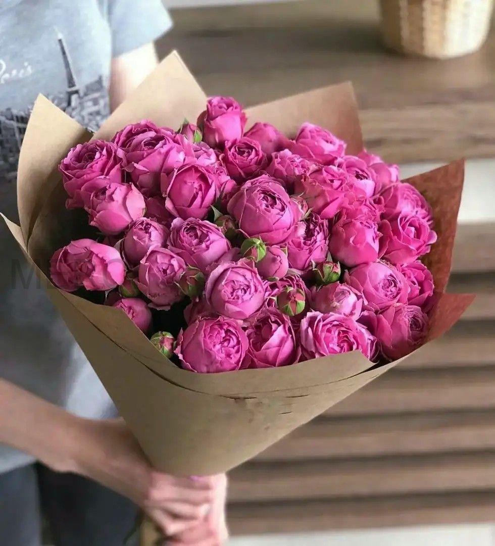 Кустовые розы мисти баблз, 15шт