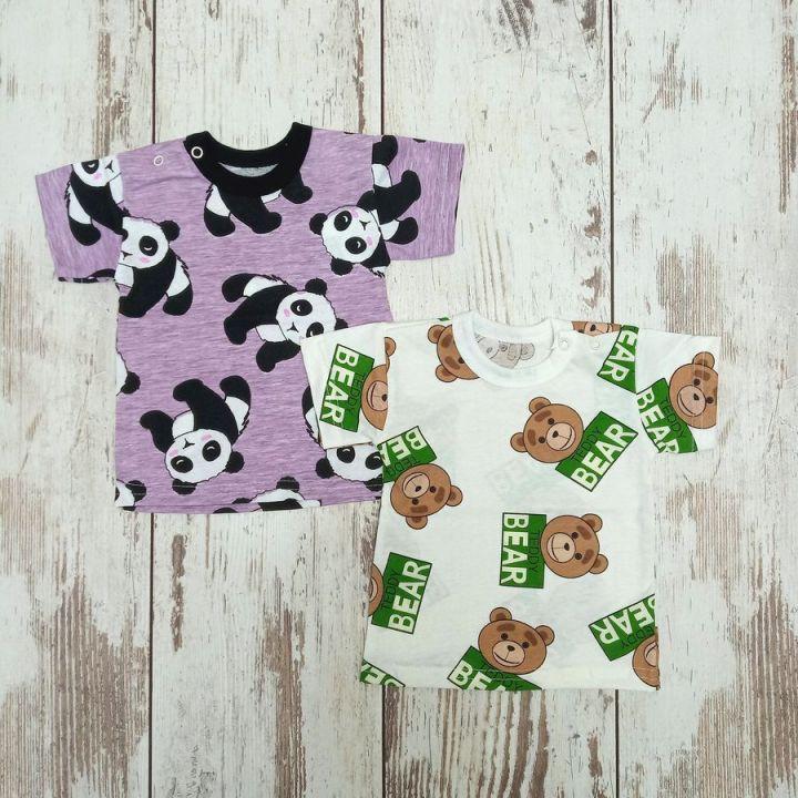 Футболка A-FT025(2)-SU 02192-4 панда мишка / Мамин Малыш