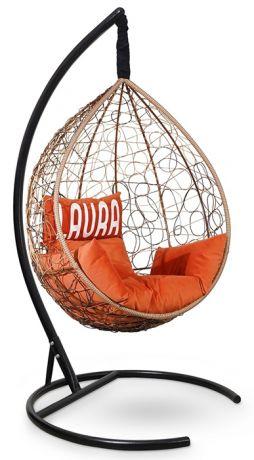 Подвесное кресло SEVILLA VELOUR каркас горячий шоколад