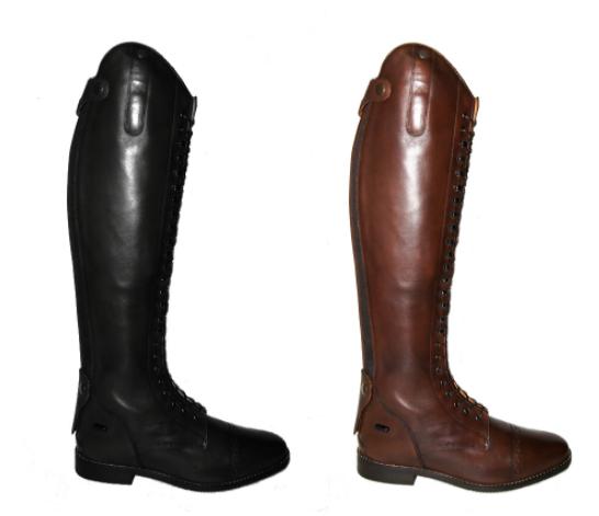 Сапоги кожаные, на шнуровке FINESSE