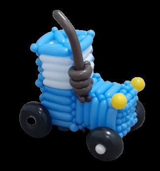 Синий трактор из воздушных шаров