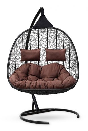 Подвесное кресло-кокон SEVILLA TWIN каркас черный