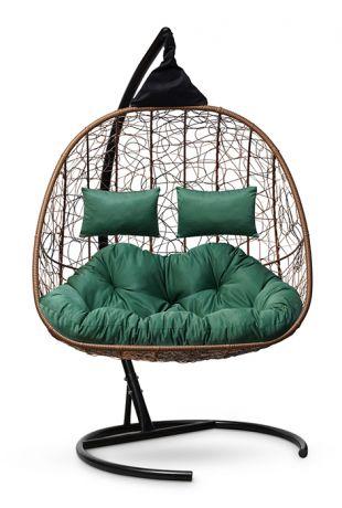 Подвесное кресло-кокон SEVILLA TWIN каркас горячий шоколад