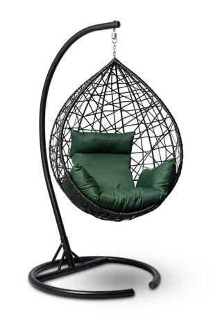 Подвесное кресло-кокон ALICANTE каркас черный