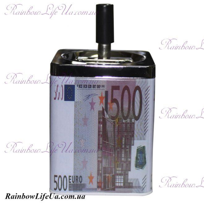 """Пепельница металлическая """"500 Евро"""""""
