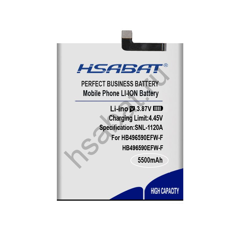 Аккумулятор HB496590EFW-F 5500 мАч